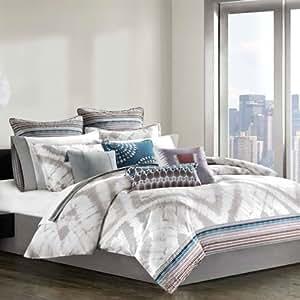 Echo tribal blocks comforter set multi for Naaptol kitchen queen set