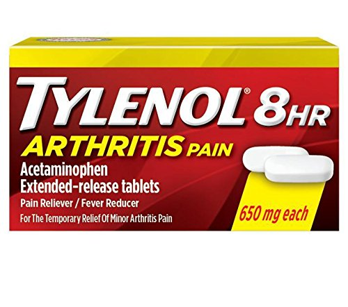 Tylenol 8 Hour Arthritis Pain Relief - Acetominophen Extended-Release Tablets, Pain Reliever / Fever Reducer, 24 Caplets, 650 milligrams each (2-Pack) -