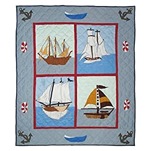 Patch Magic Ships Ahoy Throw, 50-Inch by 60-Inch by Patch Magic