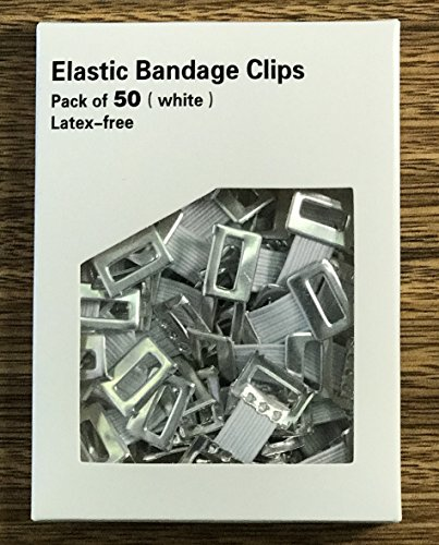Elastic Clips for Elastic Bandages,Pack of 50 (White)
