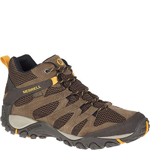 Merrell Alverstone Mid Waterproof Wide Width Men 10.5 Merrell Stone (Merrell Mens Boots)