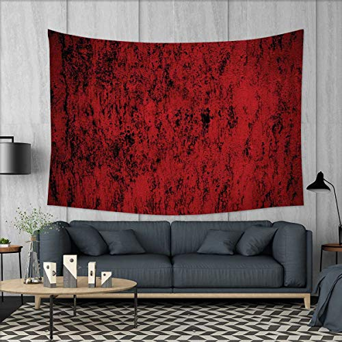 Red and Black Pillow Sham Wall Hanging Tapestries Artistic Abstract Pattern with Grungy Distressed Look and in Vintage Style Large tablecloths 84''x54'' Decorative Standard Printed Pillowcase36 X 20 In by smallbeefly