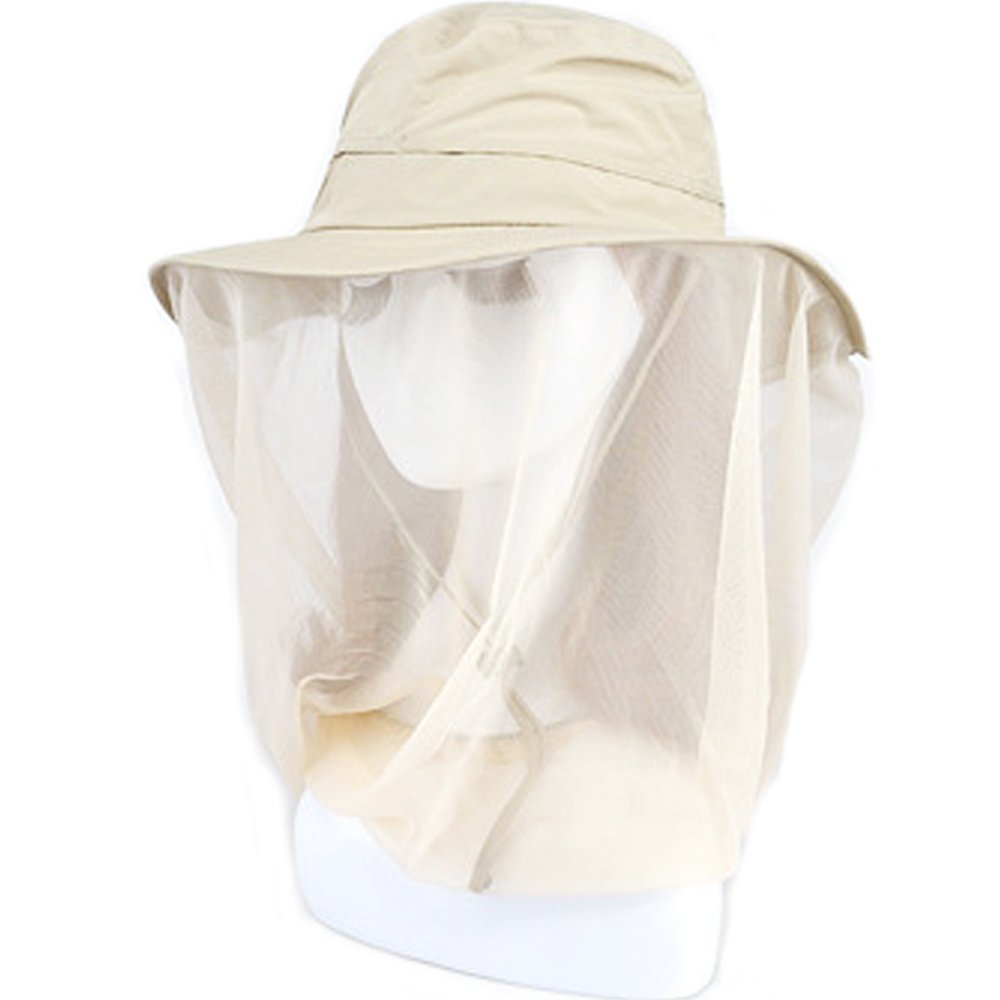NEPPT Mosquito Hat Net with Netting Insect Bug Bee Flies Face and Head Protection Mask Outdoor Fishing Garden Anti-Mosquito Sun Hat for Men Women