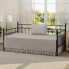 3bcf463343cf3 Victorian Style Platform Metal Day Bed Frame Foundation with ...