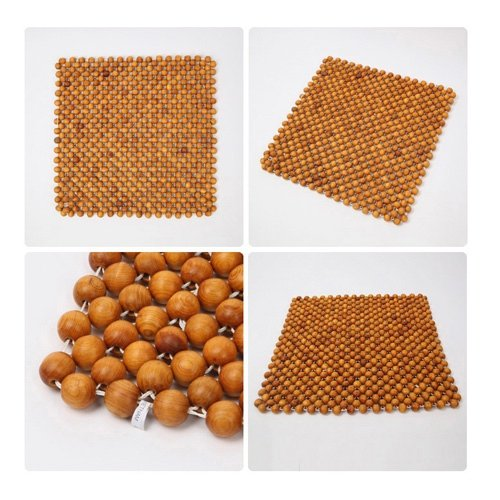 Phytoncide Village 100% Handmade LaoCAI Hinoki Ball Seat Cushion Natural Acupressure Massage Phytoncide BreathableEffect Summer Cool Chair Seat Cushion by Phytoncide Village (Image #2)