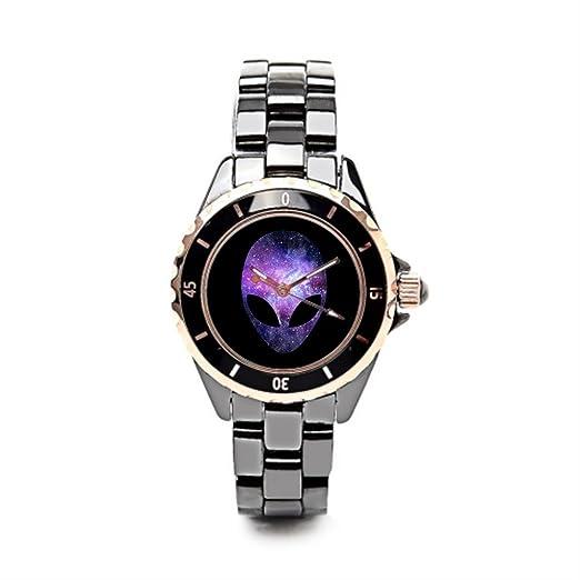Queensland correa de cerámica relojes oscuridad relojes Marcas extranjeros cabeza: Amazon.es: Relojes