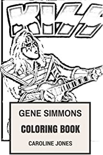 Gene Simmons Coloring Book Glam Rock And Kiss Guitarist Facepaint Pioneer Pyro Showman Inspired