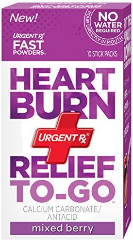 Brûlures d'estomac UrgentRx soulagement d'aller en poudre, 10 bâtons