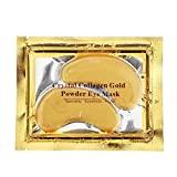 10 Pairs New Crystal 24K Gold Powder Gel Collagen Eye Mask Masks Sheet Patch, Anti Aging,Dark Circles and Puffiness, Anti Wrinkle, Moisturising,Whitening, Remove Blemishes and Blackheads by NYKKOLA