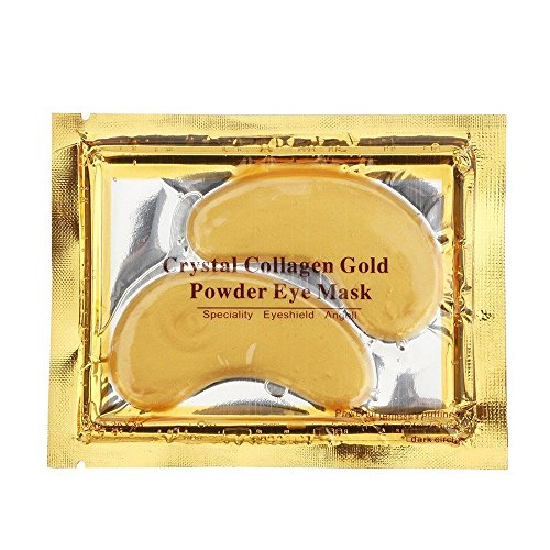 NYKKOLA Anti Aging Crystal 24K Gold Powder Gel Collagen Eye Masks Sheet Patch (10 Pairs)