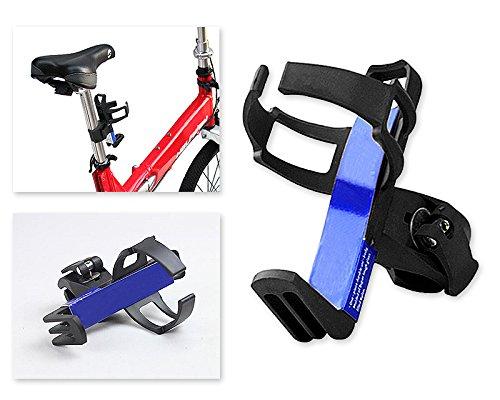 Fahrrad 360 Grad Umdrehung Flaschenhalter Rohr Wasser Flasche Halter Wasserflaschenhalter Rahmen Getränkehalter Motorrad Ständer - Schwarz