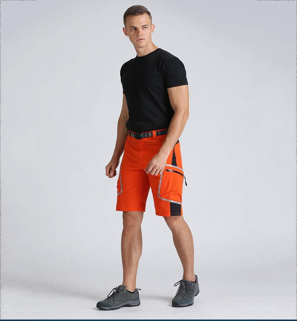 VTT Respirant Sports de Plein air Shorts desserr/és V/élo de Montagne Shorts de Course QZH Shorts de randonn/ée pour Hommes