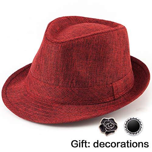 - Summer Hat for Men Fedoras - Mens Hats Sun Hats for Men Fedora Hats for Women