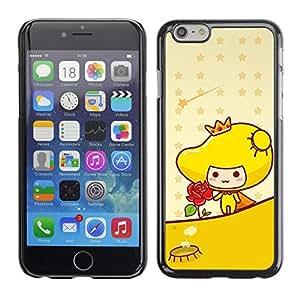 PC/Aluminum Funda Carcasa protectora para Apple Iphone 6 Cute Princess Rose / JUSTGO PHONE PROTECTOR