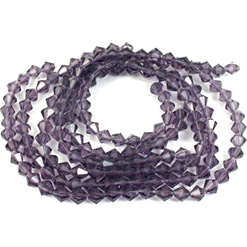 - Amethyst Bicone FP Chinese Crystal Beads 6mm 5 Strand