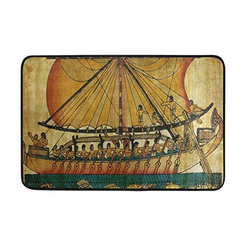 (Ladninag BathMat Ancient Egyptian Culture Doormat Indoor Outdoor Entrance Floor Welcome Mats Bathroom Rug)