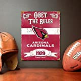 Party Animal NFL Embossed Metal Sign, Arizona Cardinals