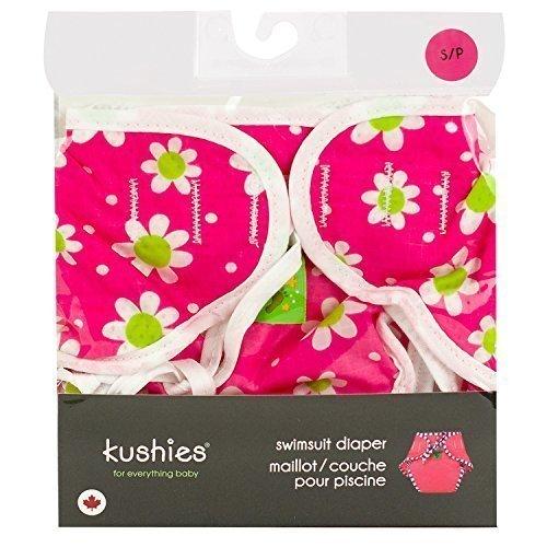 Kushies Swim Diaper, Fuchsia Daisy Print, Medium by Kushies