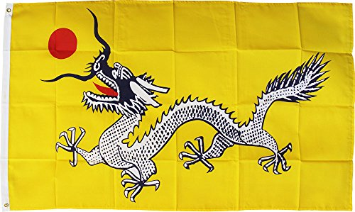 Yellow Dragon - 3' x 5' Polyester Novelty Flag