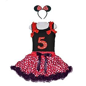 - 516TjWUrJaL - Red/White Polka Dots Costumes for Birthday Party-Tutu w/Tank Top & Headband