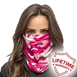 Salt armour pink camo face shield sun mask for Sa fishing face shield review