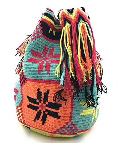 Wayuu Mochila, Bolsos Colombianos Artesanales con motivos tribales, tanto para mujer como para hombre. Alta Vista