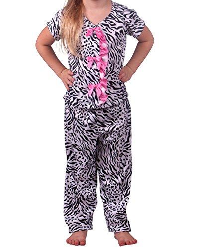 Laura Dare Big Girls Tropical Beauty Man Tailor Pajama, Size 14
