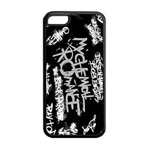 My Chemical Romance Design Solid Rubber Customized Cover Case for iPhone 5c 5c-linda180