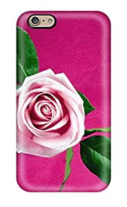 Defender Case With Nice Appearance (cool Pink Rose) For Iphone 6