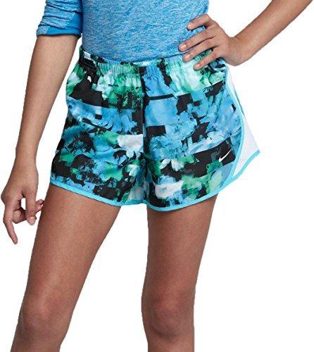 Nike Girls' Dry Tempo Printed Running Shorts(Light Blue Fury, M)