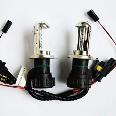 Innovited 55W HID Xenon Bi-xenon Hi/Lo Dual Beam Replacement Bulbs - H4 9003-10000K: Automotive