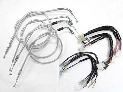 国内産 JADE ハンドル ワイヤー 4本セット メッシュ 10cm ハーネス付 B06Y1HHDF1