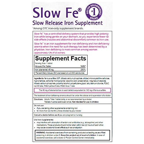 Slow Fe Slow Iron, Tablets,