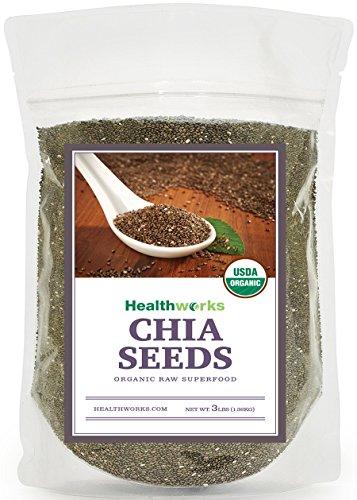 Healthworks Raw Organic Chia Seeds 3 Pound
