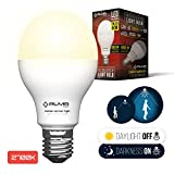 outdoor dusk till dawn sensor - Motion Sensor Light Bulb 7W - Motion Activated LED Light Bulbs with Dusk to Dawn Motion Detector for Outdoor Indoor Front Door Porch Garage Hallway Stairs Wall Lighting - E26 Socket 2700K Soft White