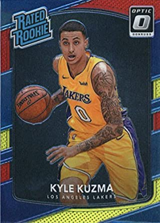 c4d7e5c9525 2017-18 Donruss Optic Wal-Mart Red Yellow  174 Kyle Kuzma Los Angeles