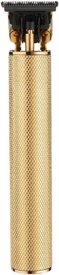 YYF Cortar el Pelo Aceite de Cabeza T9 maquinilla eléctrica Marca Grabado maquinilla eléctrica 0 Cortador de la Cabeza de Corte Empuje peluquería cortadora de Cabello Blanco podadoras (Color : A)