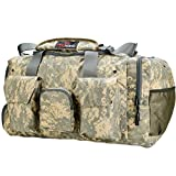 "King Kong Giant Kong Original Nylon Gym Bag - Large Heavy Duty and Water-Resistant Duffle Bag - Military Spec Nylon- Heavy Duty Steel Buckles - 22"" x 13.5"" x 13"" - Digital Camo"