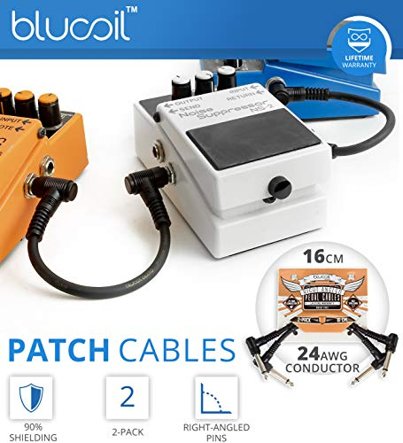 Jim Dunlop DVP4 Volume (X) Mini Pedal for Electric Guitars Bundle with 2-Pack of Hosa 5-FT Straight Instrument Cable (1/4in), Blucoil 2-Pack of Pedal Patch Cables, and 4-Pack of Celluloid Guitar Picks