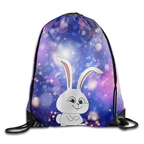 Unisex Cute Is Just My Cover Snowball Rabbit Sports Drawstring Backpack Bag
