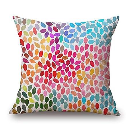 Cuscini Per Divani Design Originale.Popry Originale Design Nordico Geometriche Colorate Lino E Cotone