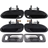 ECCPP Door handles 6Pcs Interior Exterior Front Rear Left Right for 1998 1999 2000 2001 2002 Honda Accord