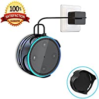[Upgraded]Echo Dot Wall Mount Hanger Stand IMEEK Stick on Anywhere Dot Holder with Cord Wrap for Dot 2nd Generation Smart Home Speaker-Black
