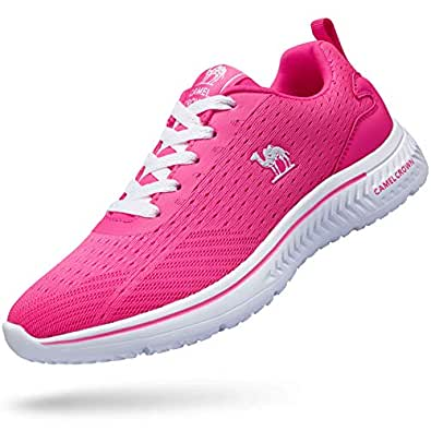 CAMEL CROWN Women Running Shoes Lightweight Fashion Sneakers Casual Shoes Non-Slip Walking Sport Trainers Sneakers Athletic Shoes Outdoor Purple Size: 6