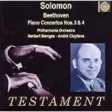 Solomon / Beethoven : Concertos Pour Piano N 3, Op. 37 & N 4, Op. 58