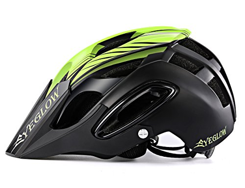 EyeGlow Stylish Adult Road Bike Helmet with Visor Protector Adjustable Sport Aero Cycling Helmet Bicycle Helmets (Black)