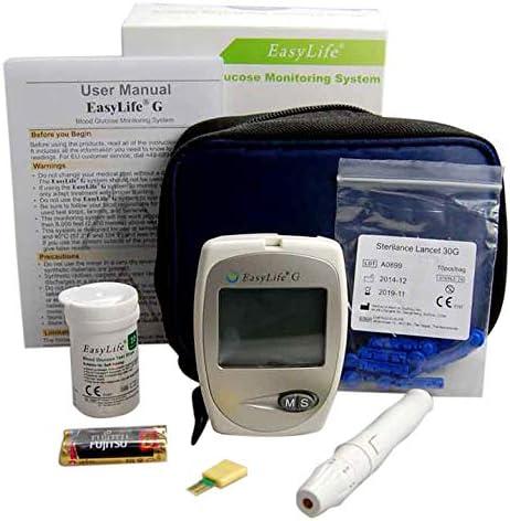 Blood Glucose Monitor GlycoMeter ~ Easy Life Blood Glucose Monitoring System para los diabéticos del Reino Unido: Amazon.es: Jardín