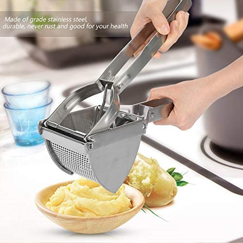 Stainless Steel Potato Fruit Meat Press Chopper Mincer Crusher Helper Fits for Kitchen Use Stainless Steel Potato Ricer