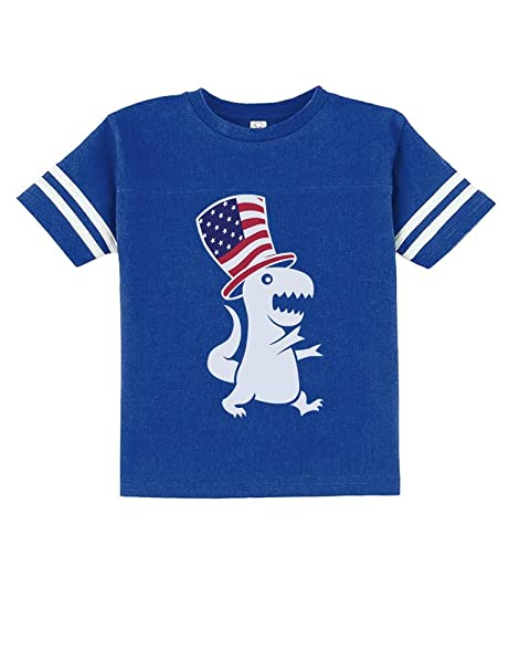 7674b5f7c TeeStars - American T-Rex Dinosaur USA Flag 4th of July Toddler Jersey T-