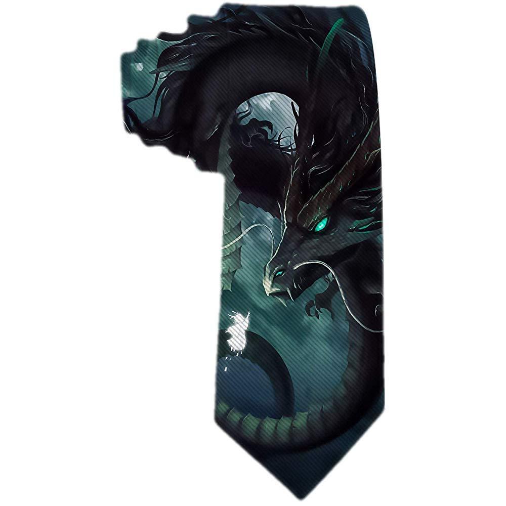 Corbata de hombre Ferozmente dragón con ojos verdes y corbata de ...
